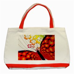 Greeting Card Butterfly Kringel Classic Tote Bag (red)