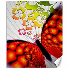Greeting Card Butterfly Kringel Canvas 8  X 10
