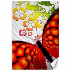 Greeting Card Butterfly Kringel Canvas 12  x 18