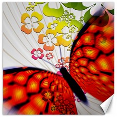 Greeting Card Butterfly Kringel Canvas 20  x 20