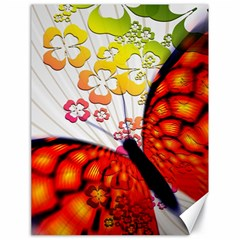Greeting Card Butterfly Kringel Canvas 18  X 24