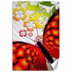 Greeting Card Butterfly Kringel Canvas 20  x 30