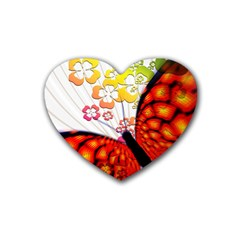 Greeting Card Butterfly Kringel Heart Coaster (4 pack)