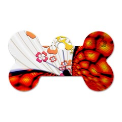 Greeting Card Butterfly Kringel Dog Tag Bone (One Side)