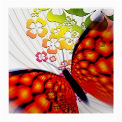 Greeting Card Butterfly Kringel Medium Glasses Cloth