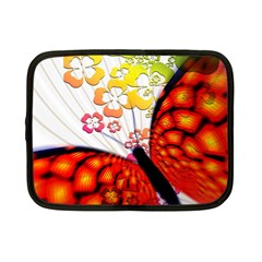Greeting Card Butterfly Kringel Netbook Case (Small)