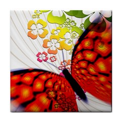 Greeting Card Butterfly Kringel Face Towel