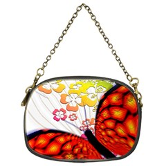Greeting Card Butterfly Kringel Chain Purses (one Side)