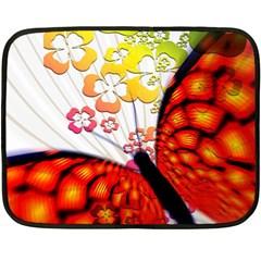 Greeting Card Butterfly Kringel Fleece Blanket (Mini)