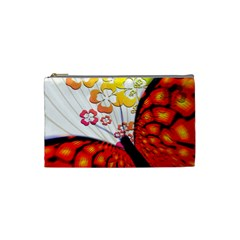Greeting Card Butterfly Kringel Cosmetic Bag (Small)