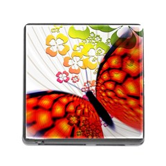 Greeting Card Butterfly Kringel Memory Card Reader (Square)