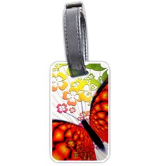 Greeting Card Butterfly Kringel Luggage Tags (One Side)