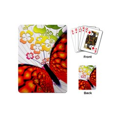 Greeting Card Butterfly Kringel Playing Cards (mini)
