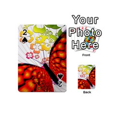 Greeting Card Butterfly Kringel Playing Cards 54 (Mini)