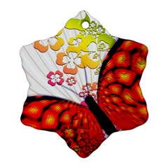 Greeting Card Butterfly Kringel Snowflake Ornament (Two Sides)