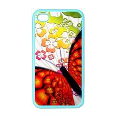 Greeting Card Butterfly Kringel Apple Iphone 4 Case (color)