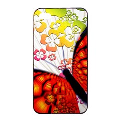 Greeting Card Butterfly Kringel Apple iPhone 4/4s Seamless Case (Black)
