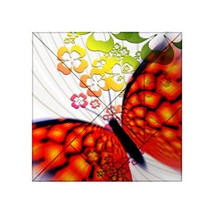 Greeting Card Butterfly Kringel Acrylic Tangram Puzzle (4  x 4 )