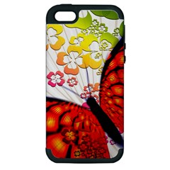 Greeting Card Butterfly Kringel Apple iPhone 5 Hardshell Case (PC+Silicone)