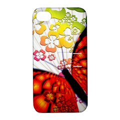 Greeting Card Butterfly Kringel Apple Iphone 4/4s Hardshell Case With Stand