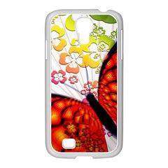 Greeting Card Butterfly Kringel Samsung Galaxy S4 I9500/ I9505 Case (white)