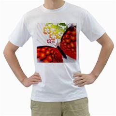 Greeting Card Butterfly Kringel Men s T-Shirt (White)