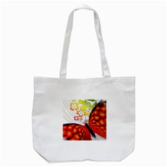 Greeting Card Butterfly Kringel Tote Bag (white)
