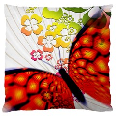 Greeting Card Butterfly Kringel Standard Flano Cushion Case (two Sides)