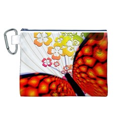 Greeting Card Butterfly Kringel Canvas Cosmetic Bag (L)