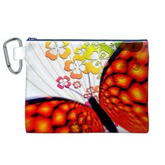 Greeting Card Butterfly Kringel Canvas Cosmetic Bag (XL)