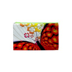 Greeting Card Butterfly Kringel Cosmetic Bag (XS)