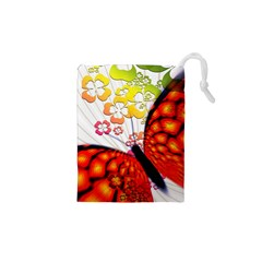 Greeting Card Butterfly Kringel Drawstring Pouches (xs)