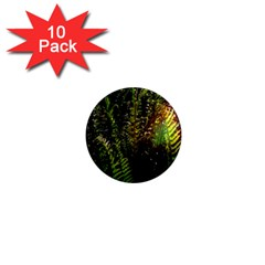 Green Leaves Psychedelic Paint 1  Mini Magnet (10 pack)