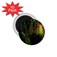 Green Leaves Psychedelic Paint 1.75  Magnets (10 pack)