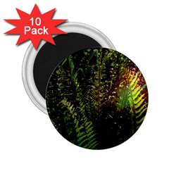 Green Leaves Psychedelic Paint 2 25  Magnets (10 Pack)