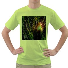Green Leaves Psychedelic Paint Green T-Shirt
