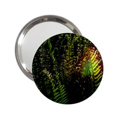 Green Leaves Psychedelic Paint 2.25  Handbag Mirrors