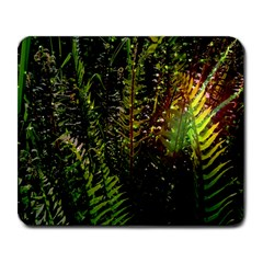 Green Leaves Psychedelic Paint Large Mousepads