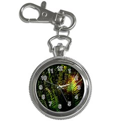 Green Leaves Psychedelic Paint Key Chain Watches
