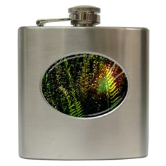Green Leaves Psychedelic Paint Hip Flask (6 Oz)