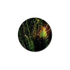 Green Leaves Psychedelic Paint Golf Ball Marker