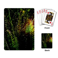 Green Leaves Psychedelic Paint Playing Card