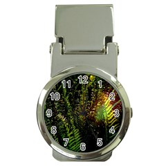 Green Leaves Psychedelic Paint Money Clip Watches
