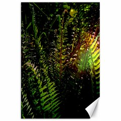 Green Leaves Psychedelic Paint Canvas 20  x 30
