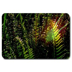 Green Leaves Psychedelic Paint Large Doormat