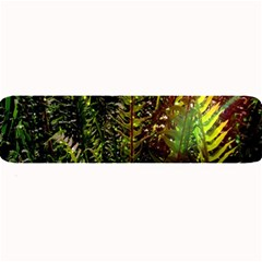 Green Leaves Psychedelic Paint Large Bar Mats