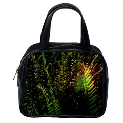 Green Leaves Psychedelic Paint Classic Handbags (One Side)