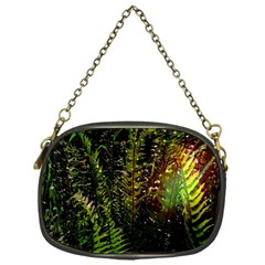 Green Leaves Psychedelic Paint Chain Purses (One Side)