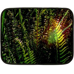 Green Leaves Psychedelic Paint Double Sided Fleece Blanket (mini)