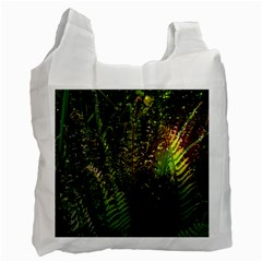 Green Leaves Psychedelic Paint Recycle Bag (One Side)